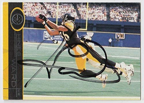 2001 Pacific Hines Ward Auto Autograph Signed Card #346 Certificate - JSA Certified - NFL Autographed Football Cards