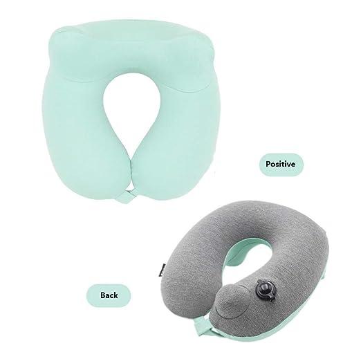 Tipo de botón cojín de cuello hinchable almohada en forma de U ...