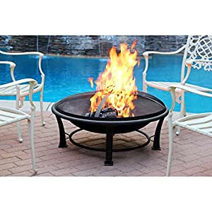 Jeco 35-inch Golden Brush Steel Fire Pit