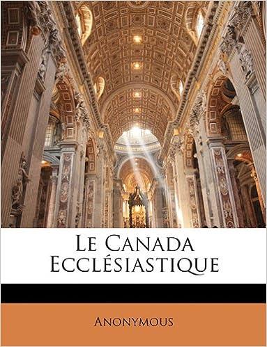 Le Canada Ecclesiastique pdf, epub