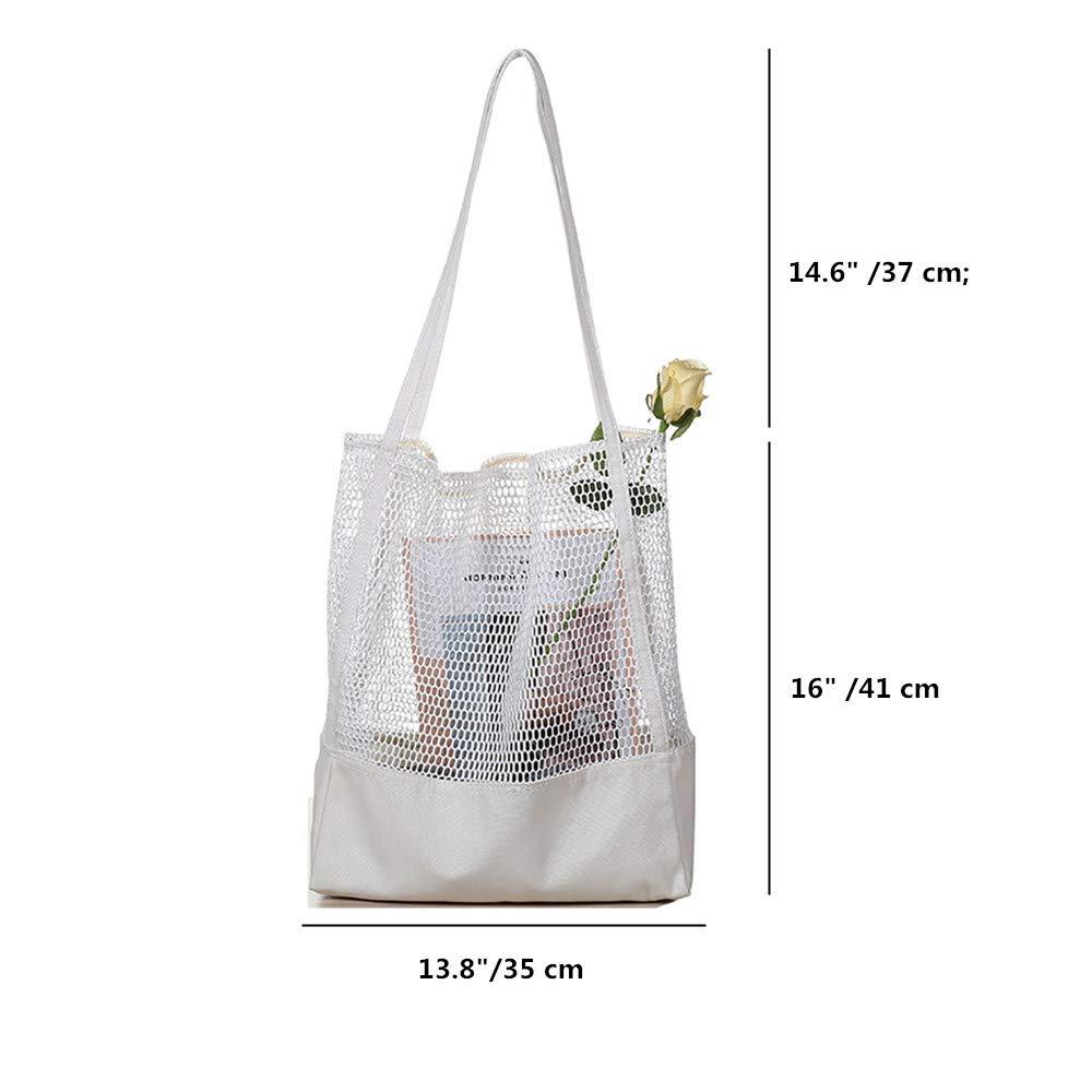 Amazon.com: Bolso de malla para mujer, bolso de hombro ...