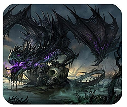 Rectangle Mouse Pad Mat With Art Designed Giant Dragon Picture Cloth Cover Non-slip Backing