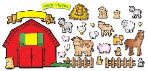 Carson Dellosa D.J. Inkers Farm Friends Bulletin Board Set (610028)