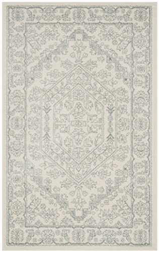 Safavieh Adirondack Collection ADR108S Ivory and Slate Oriental Vintage Medallion Runner (2'6″ x 6′)