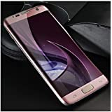 for Samsung Galaxy S7 Edge 3D Curved Mobile Tempered Glass Screen Rose Gold Edge Tempered Glass