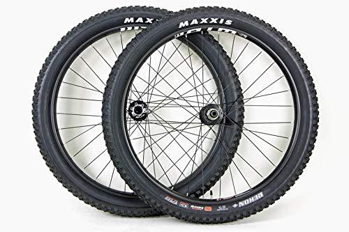 WTB 27.5 inch Plus Fat Bike Wheel Set Shimano 11 Speed Disc Brake ST i29 TCS Thru Axle Tubeless Maxxis Rekon 29 x 2.80 Tires & (Xc Disc Wheel Set)