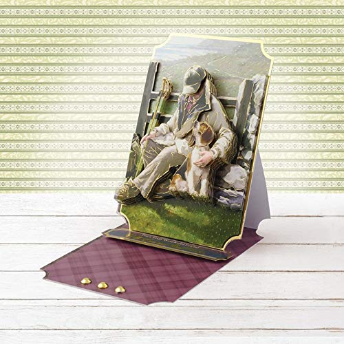 A4 Decoupage Large Set-A Mans Best Friend Hunkydory Happiness is