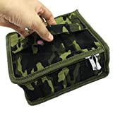 Essential Oil Carrying Case Holds-30 Bottles For Man Women-Travel Home Stock With One Pair Of Zipper Head Size 5ML, 10ML, 15ML With Portable Handle Business Gifts(camouflage)
