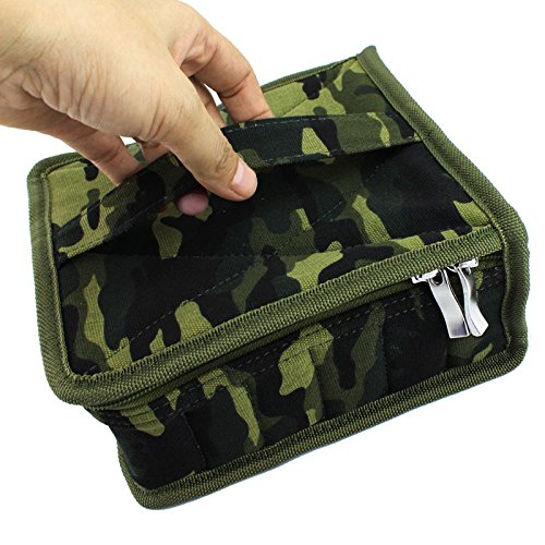 Essential Oil Carrying Case Holds-30 Bottles For Man Women-Travel Home Stock With One Pair Of Zipper Head Size 5ML, 10ML, 15ML With Portable Handle Business Gifts(camouflage) by Non-Branded