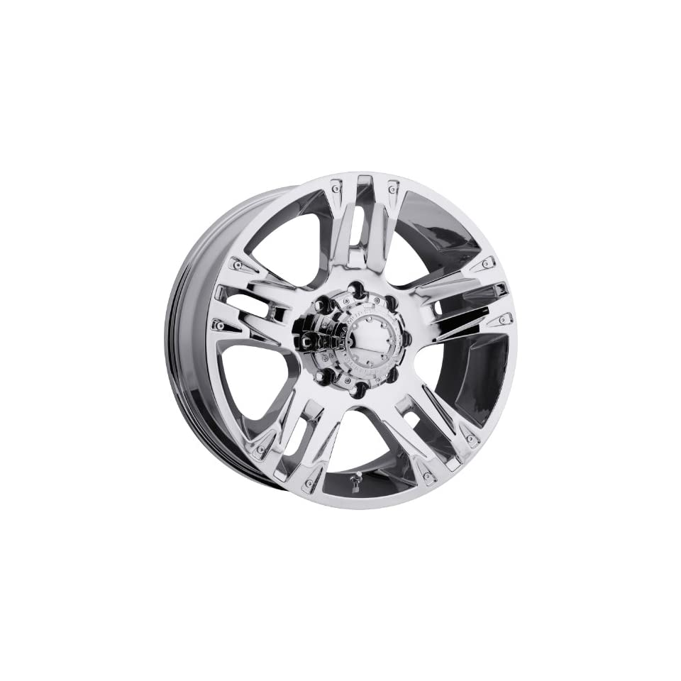 Ultra Maverick 16 Chrome Wheel / Rim 8x6.5 with a  6mm Offset and a 125 Hub Bore. Partnumber 235 6881C