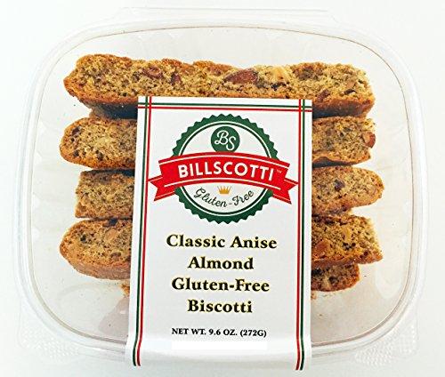 BillScotti Classic Anise Almond Gluten Free Biscotti (8 Pieces) (Almond Gluten Free Biscotti)