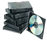 Q-Connect Slim Jewel Case for CD - Black, Pack of 25