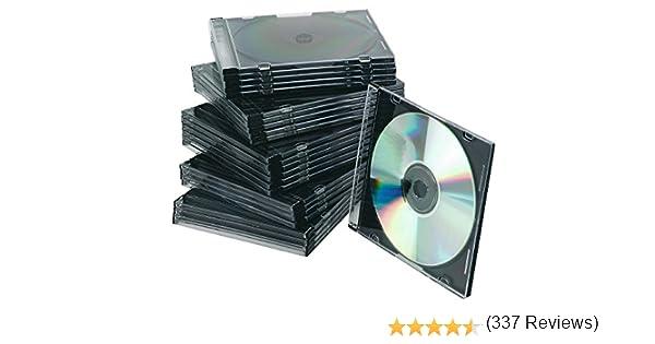 Caja De Cd Q-connect Slim -con Interior Negro -pack De 25 Unidades ...