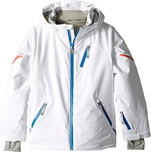 Spyder Kids Girl's Pandora Jacket (Big Kids) White 14 by Spyder