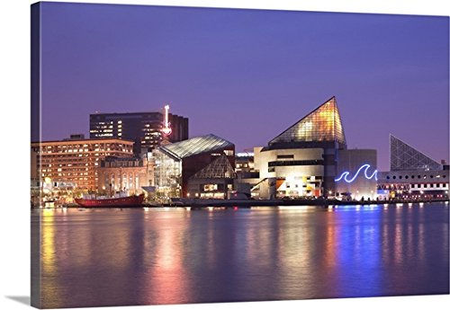 Canvas On Demand Premium Thick-Wrap Canvas Wall Art Print entitled National Aquarium at Inner Harbor, Baltimore, Maryland, USA - Gallery Harbor Inner