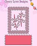 Cheery Lynn Designs DL137AB Japanese Lace & Flourish Frame with Angel Wing 3 and Vines 4-pc Set