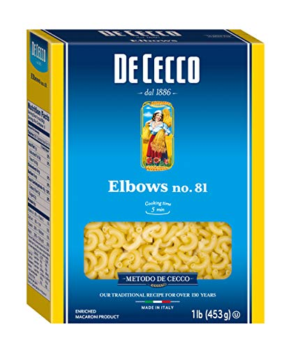 De Cecco Pasta, Elbows, 16 Ounce (Pack of 5)