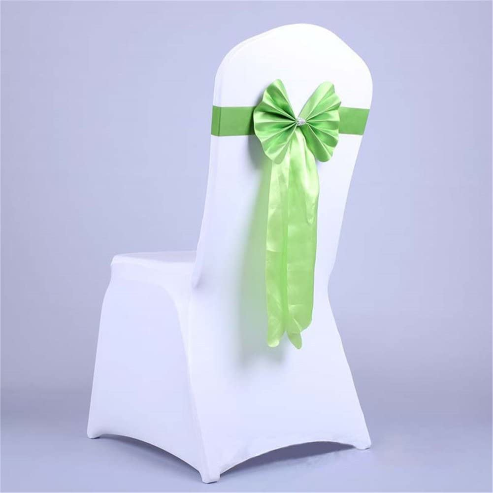 Wrinkle-Free Wedding Party Banquet Decoration Cuff Ribbon Chair Back Band Buckle Slider Sashes Bow Decorated Gold
