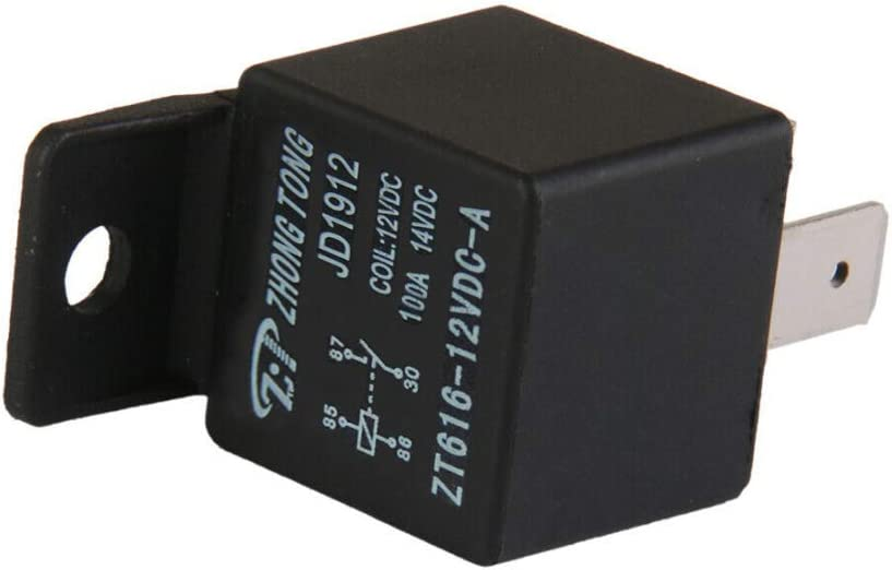 ESUPPORT DC 12V 100A 100 AMP Car Automotive Boat Truck 4 Pins SPST Alarm Relay
