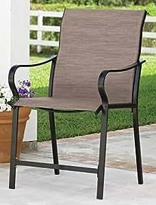 Amazon Com Extra Wide High Back Patio Chair Khaki