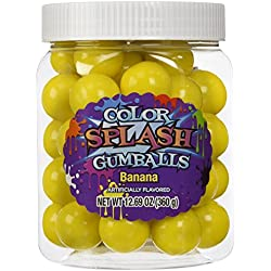 COLORSPLASH GUMBALLS Jars, Yellow Banana, 12.69 oz, 49 Piece