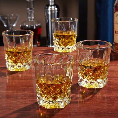 St. Lorenz Whiskey Glasses Set of 4 Crystal Tumbler Double Old Fashioned (Dof Set)