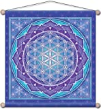 30″ x 30″ Mandala Arts Temple Banner Flower of Life For Sale