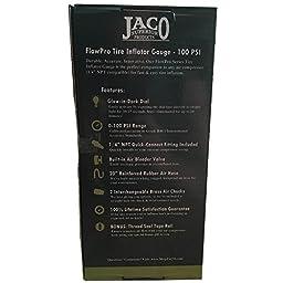 JACO FlowPro Tire Inflator Gauge - 100 PSI