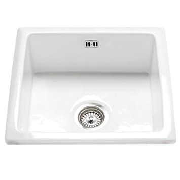 Rak Ceramics Gourmet Sink 6 Inset Undermount 1 0 Bowl White Ceramic Kitchen Sink