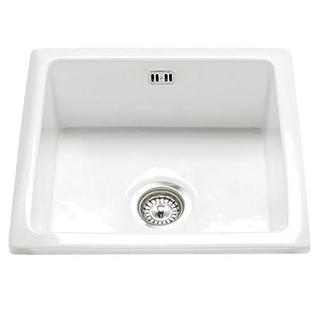 RAK Ceramics Gourmet Sink 6 Inset/Undermount 1.0 Bowl White Ceramic ...