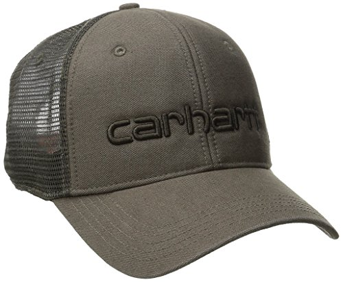 Carhartt Embroidered Visor - Carhartt Men's Dunmore Mesh Back Cap, Light Brown, One Size