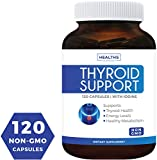 Best Thyroid Support Supplement (NON-GMO) 120 Capsules: Improve Your Energy & Increased Metabolism