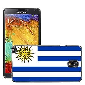 GoGoMobile Slim Protector Hard Shell Cover Case // V00001185 uruguay National Country Flag // Samsung Galaxy Note 3 III N9000 N9002 N9005