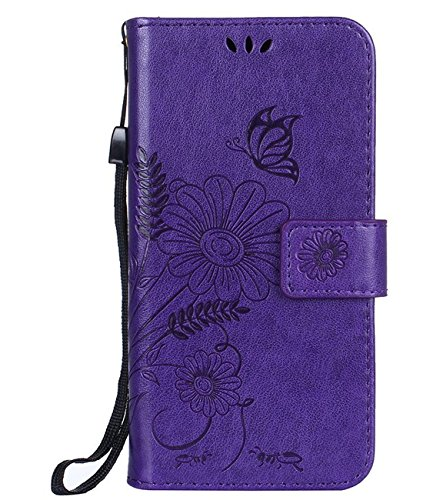 (AIsoar iPhone 8 Case Wallet, iPhone 7 Case with Card Holder Full Body Protection Slim Case Fit Folio Flip with Magnetic Stand Embossed Pattern Flower Leather Wallet Case for iPhone 8 7 4.7
