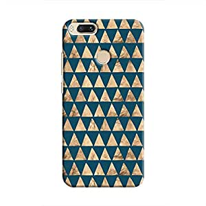 Cover It Up - Brown Navy Triangle Tile Mi A1 Hard Case