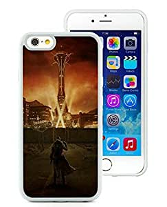 Superior Custom Design fallout city light character sky White Case For iPhone 6 TPU 4.7 inch