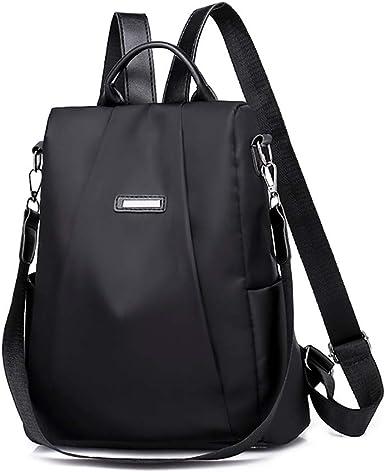 Women Waterproof Oxford Cloth Travel Backpack Nylon Anti-theft Shoulder Rucksack