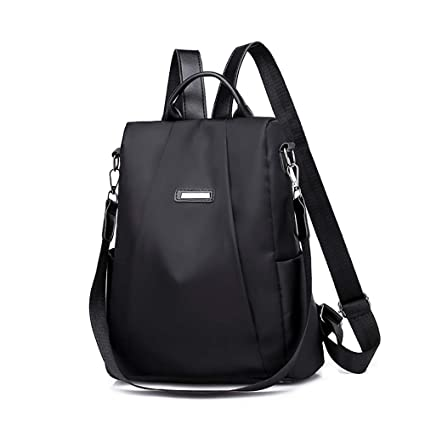 Amazon.com: Fashion Women Girls Shoulder Bag Travel Backpack Purse,Outsta Schoolbag Anti-Theft Oxford Bag (Black): Clothing