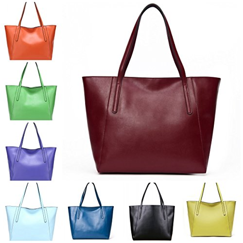 CHERRY CHICK Large Capacity Women's Durable Nappa Cow Leather Big Tote Bag (Matt - Womens Jacket Cherry