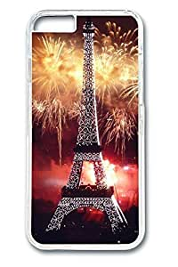 6 plus Case, iPhone 6 plus Case - Perfect Fit Cases for iPhone 6 plus Fireworks At Eiffel Tower Clear Hard PC Bumper Covers for iPhone 6 plus