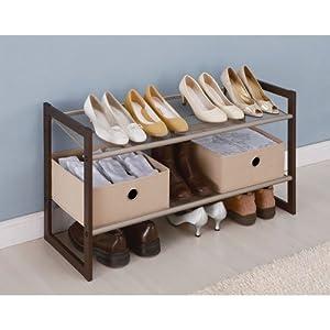 Neu Home 2 Tier Extra Wide Shoe Rack