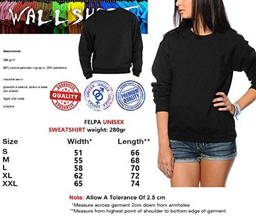 wallshirt Damen Sweatshirt Schwarz schwarz