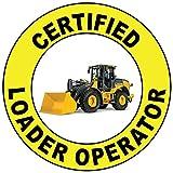 Certified Loader Operator Hard Hat Labels Plain & Reflective Vinyl Reflective Vinyl