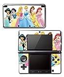 Princess Friends Pink Cinderella Snow White Ariel Jasmine Belle Sleeping Beauty Video Game Vinyl Decal Skin Sticker Cover for Original Nintendo 3DS System