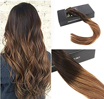 Amazon sunny 22 human hair tape in extensions ombre color sunny 22quot human hair tape in extensions ombre color darkest brown 2 to medium pmusecretfo Gallery