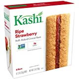 Kashi Soft-Baked Breakfast Bars, Ripe Strawberry, Non-GMO Project Verified, 36 Count (Pack of 6, 7.2 oz Boxes)