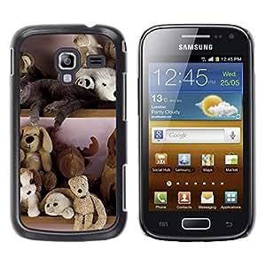 Be Good Phone Accessory // Dura Cáscara cubierta Protectora Caso Carcasa Funda de Protección para Samsung Galaxy Ace 2 I8160 Ace II X S7560M // Toy Bear Stuffed Animals Teddy Kids