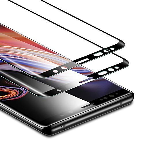 ESR Screen Protector Compatible for Samsung Galaxy Note 9, (2-Pack) Tempered Glass Screen Protector [Force Resistant up to 11 pounds] [Full Screen Coverage] for Note 9 (Released in - Lb 11 Case