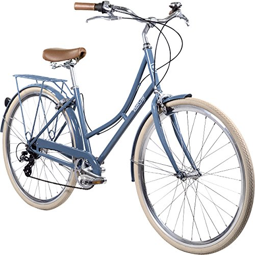 Pure City Classic Step-Through 8-Speed Bicycle, 45cm/Medium, Laurel Pale Blue/Silver For Sale