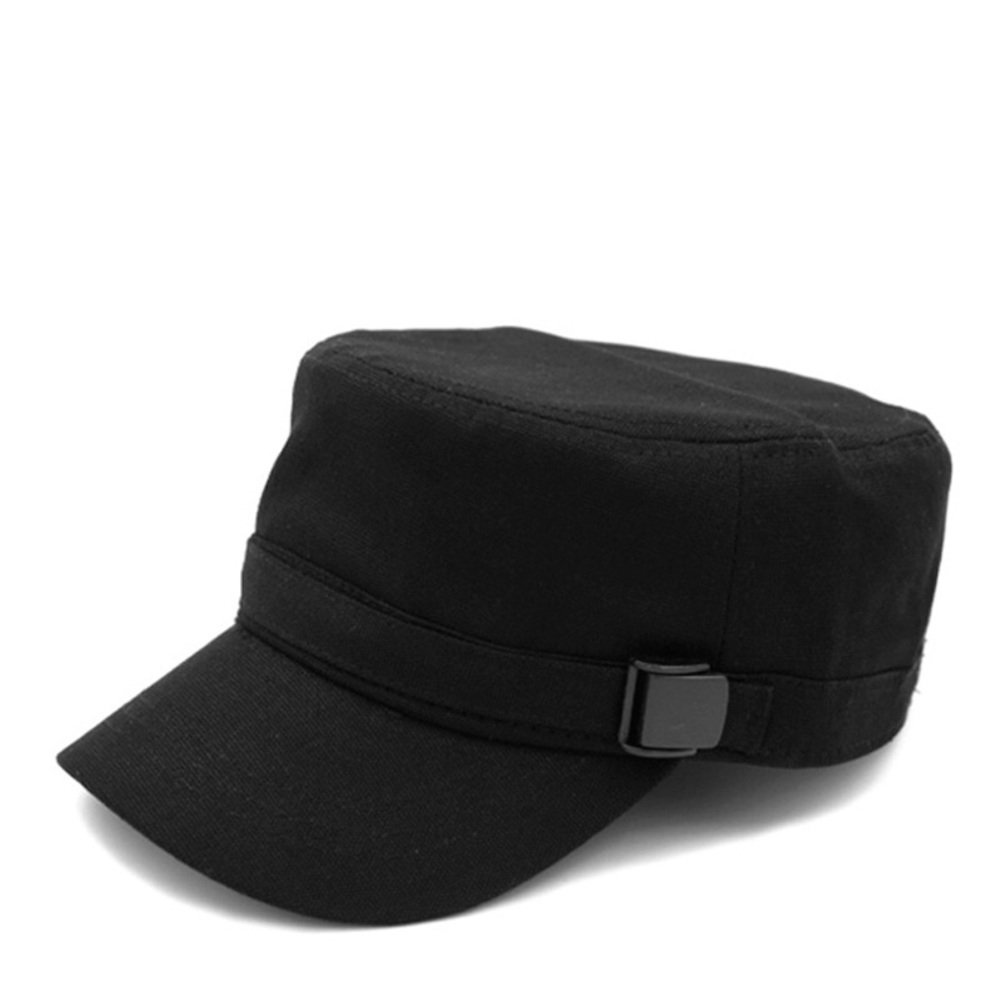 ff06ae86c84 Korean tidal flat top hat Mens outdoor hats Hat Military Cap  Fall Winter Men  hats  Leisure spring and summer hat Sun Baseball Cap-A One Size at Amazon  ...